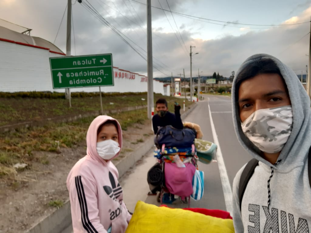 Migrantes venezlanos